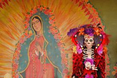 Ein Tag der toten Abbildung, Día de Los Muertos Lizenzfreies Stockfoto
