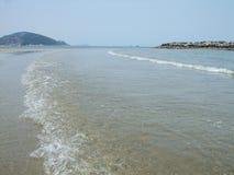 Ein Tag am Strand Stockbild