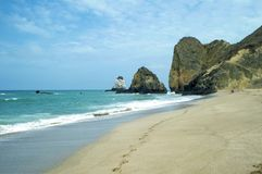 Ein Tag am Strand in Ecuador Lizenzfreies Stockfoto