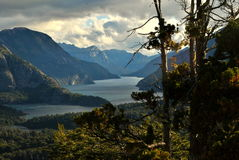 Ein Tal in Bariloche Stockbild