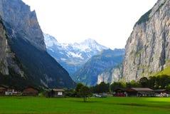 Ein Tal in der Schweiz Lizenzfreies Stockbild