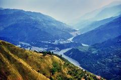 Ein Tal in Kaschmir stockbild