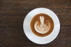 Ein Tasse Kaffee, Cappuccinokunst, Lattekunst, Latte, cappuccin Lizenzfreies Stockfoto