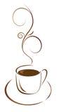 Ein Tasse Kaffee für Ihren Liebling lizenzfreie abbildung