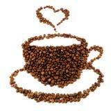 Ein Tasse Kaffee von den Bohnen Lizenzfreies Stockbild