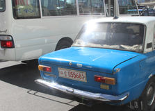 Ein Taxiauto in Addis Ababa stockfoto