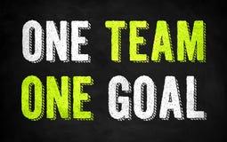 Ein Team - ein Ziel vektor abbildung