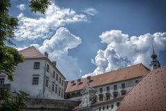 Ein Teil alten Ptuj-Schlosses Lizenzfreie Stockbilder