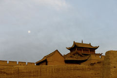 Ein Teil der Jiayuguan Stadt lizenzfreies stockbild