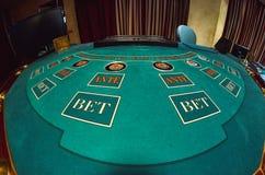 Ein Teil der Pokertabelle lizenzfreie stockfotos