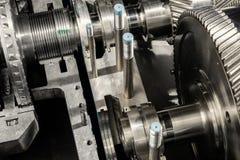 Ein Teil einer kleinen Dampfturbine Lizenzfreies Stockfoto