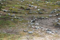 Ein Teil eines kleinen Steinlabyrinths in Folhammar, Gotland, Schweden lizenzfreie stockfotografie