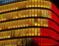 Ein Teil futuristisches Gebäude Stockbilder