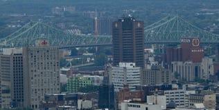 Ein Teil von im Stadtzentrum gelegenem Montreal lizenzfreies stockbild
