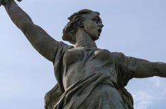 Ein Teil von Monument Mamaev Kurgan und des Mutterlandes in Stalingrad am 23. Februar, am 9. Mai Lizenzfreie Stockfotos