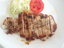 Ein Teller des Steaks Stockfotos
