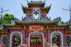 Ein Tempel in Hoi An, Vietnam lizenzfreie stockfotografie