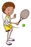 Ein Tennisspieler Stockfotografie