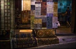 Ein Teppich-Shop Nacht, die Türkei Lizenzfreies Stockbild