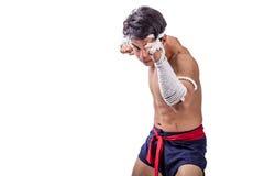 Ein thailändischer Boxer Stockfotos