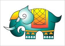 Ein thailändisches Muster des Elefanten Lizenzfreie Stockfotografie