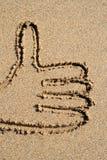 Ein Thumbs-upzeichen. Stockbild