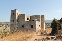 Ein Tina British Mandate Police Station, Israel. Historic concrete deserted building of Ein Tina or Ein Atina British Mandate Police Station, Israel Royalty Free Stock Images