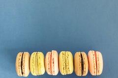 Ein topview von macarons Lizenzfreies Stockfoto