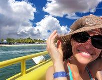 Ein Tourist im mexikanischen Yucatan lizenzfreie stockbilder
