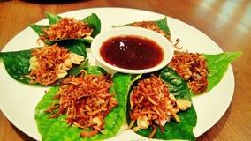 ein traditioneller Nachtisch in Thailand Lizenzfreies Stockfoto