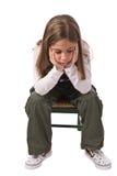 Ein trauriges kleines Mädchen Stockfotos
