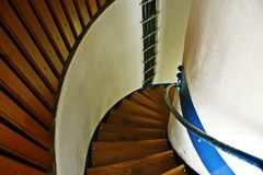 Ein Treppenhaus im Leuchtturm Stockfotos