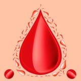 Ein Tropfen des Bluts Lizenzfreies Stockfoto