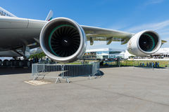 Ein Turbofan-Triebwerk Rolls-Royce Trent 900 die größten Flugzeuge in der Welt - Airbus A380 Stockfotos