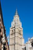 Ein Turm der Primas-Kathedrale der Heiliger Maria von Toledo Lizenzfreie Stockfotos