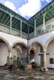 Ein typischer Hof in Havana Stockfotografie
