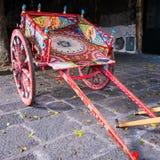Ein typisches carretto siciliano, Sizilien Lizenzfreie Stockfotos