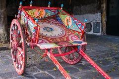 Ein typisches carretto siciliano, Sizilien Stockbilder