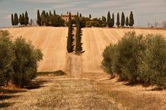 Ein typisches Haus in Toskana, Italien Lizenzfreies Stockbild