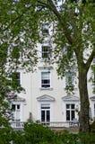 Ein typisches viktorianisches Wohngebäude in London Stockbild