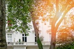 Ein typisches viktorianisches Wohngebäude in London Stockfotos