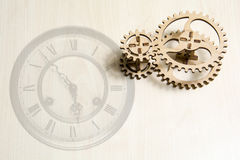 Ein Uhrmechanismus lizenzfreies stockbild
