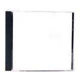 Ein unbelegter CD Kasten auf einem weißen Hintergrund Stockfoto