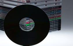 Ein unbelegtes dvd oder ein Cd Stockfotografie