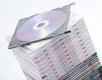Ein unbelegtes dvd oder ein Cd Stockbilder