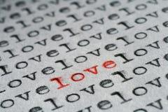 Ein und nur Liebe Lizenzfreies Stockbild