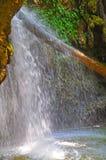 Ein ungewöhnlicher Wasserfall in der Türkei Stockfotos