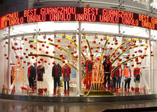 Ein Uniqlo-Speicher in Guangzhou, China Stockfotografie