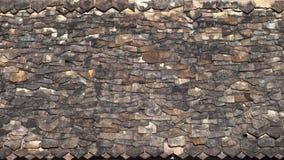Ein unregelmäßiges Muster von Dachplatten in einem alten Tempel in Thailand Lizenzfreies Stockbild