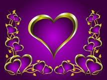 Ein Valentinsgrußtageshintergrund stock abbildung